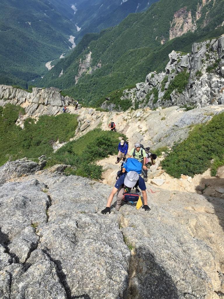 甲斐駒ヶ岳・岩稜直登コース、その2