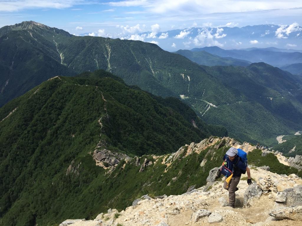 甲斐駒ヶ岳・岩稜直登コース、その3