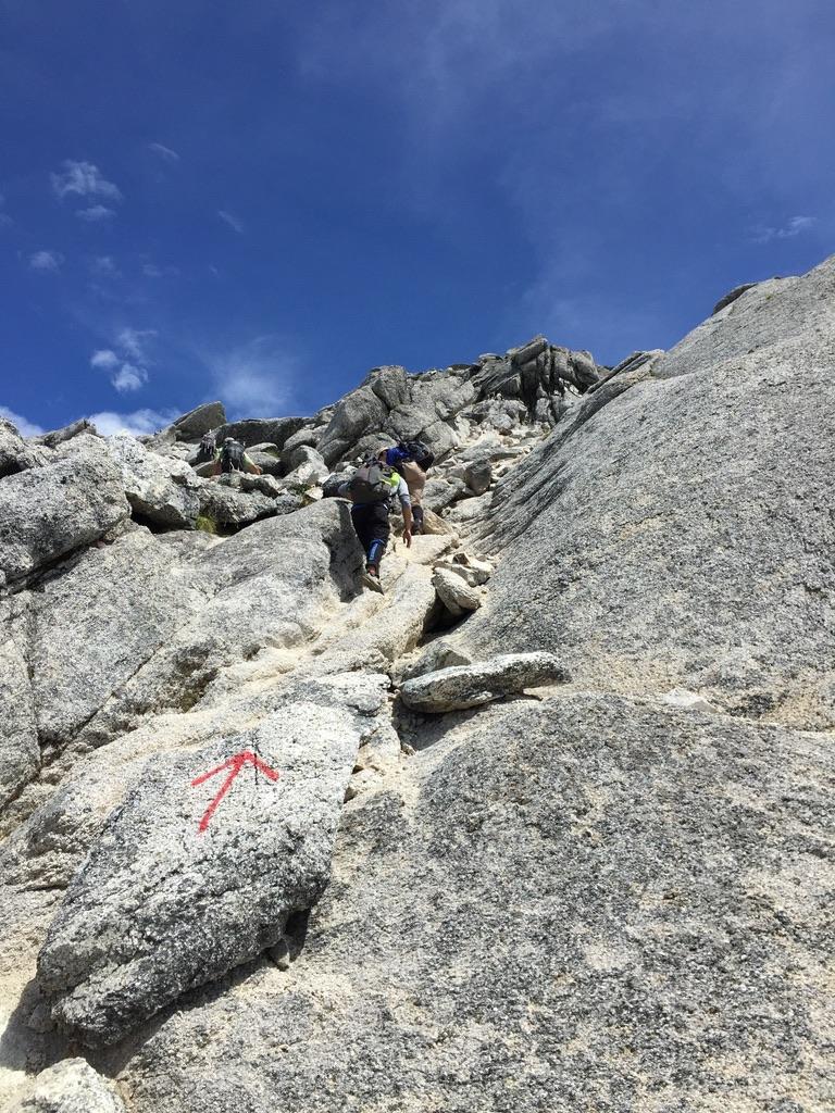 甲斐駒ヶ岳・岩稜直登コース、その4