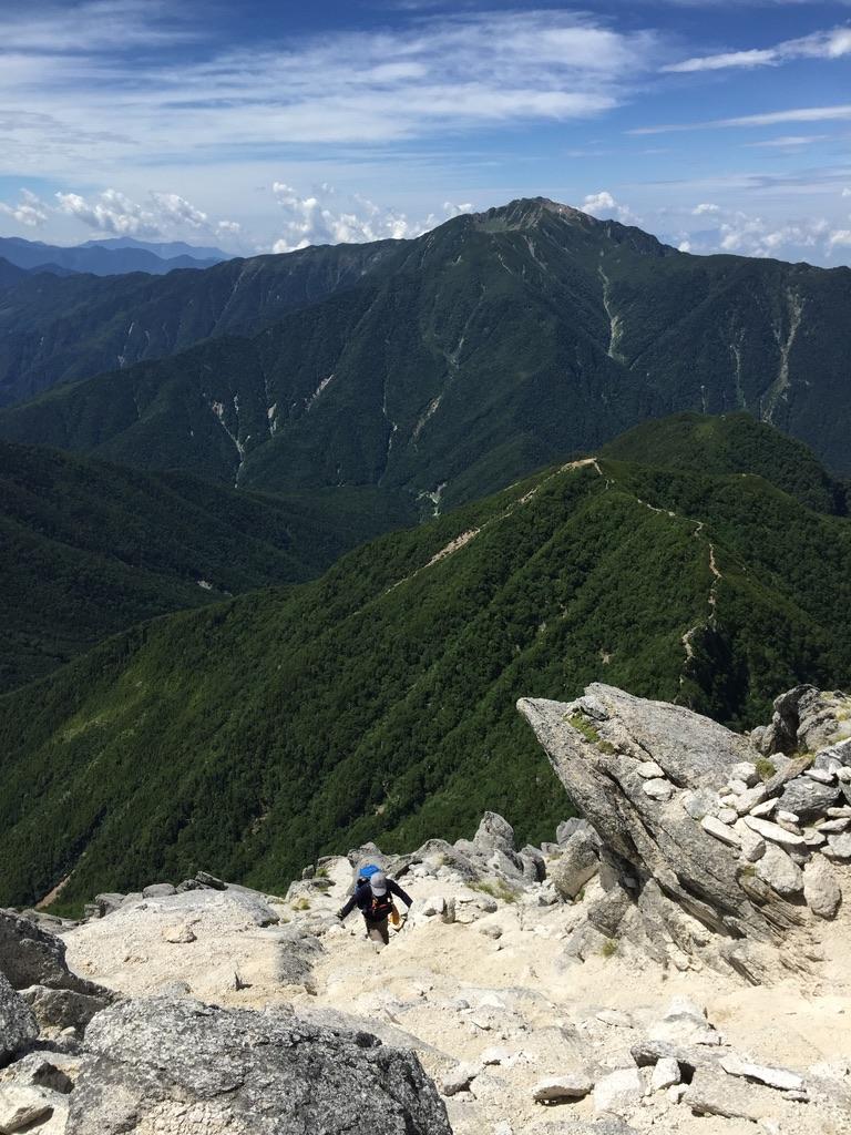 甲斐駒ヶ岳・岩稜直登コース、その5