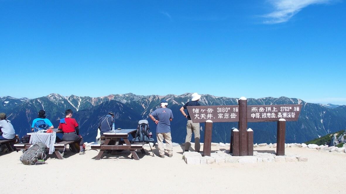 燕岳・燕山荘から見える北アルプス