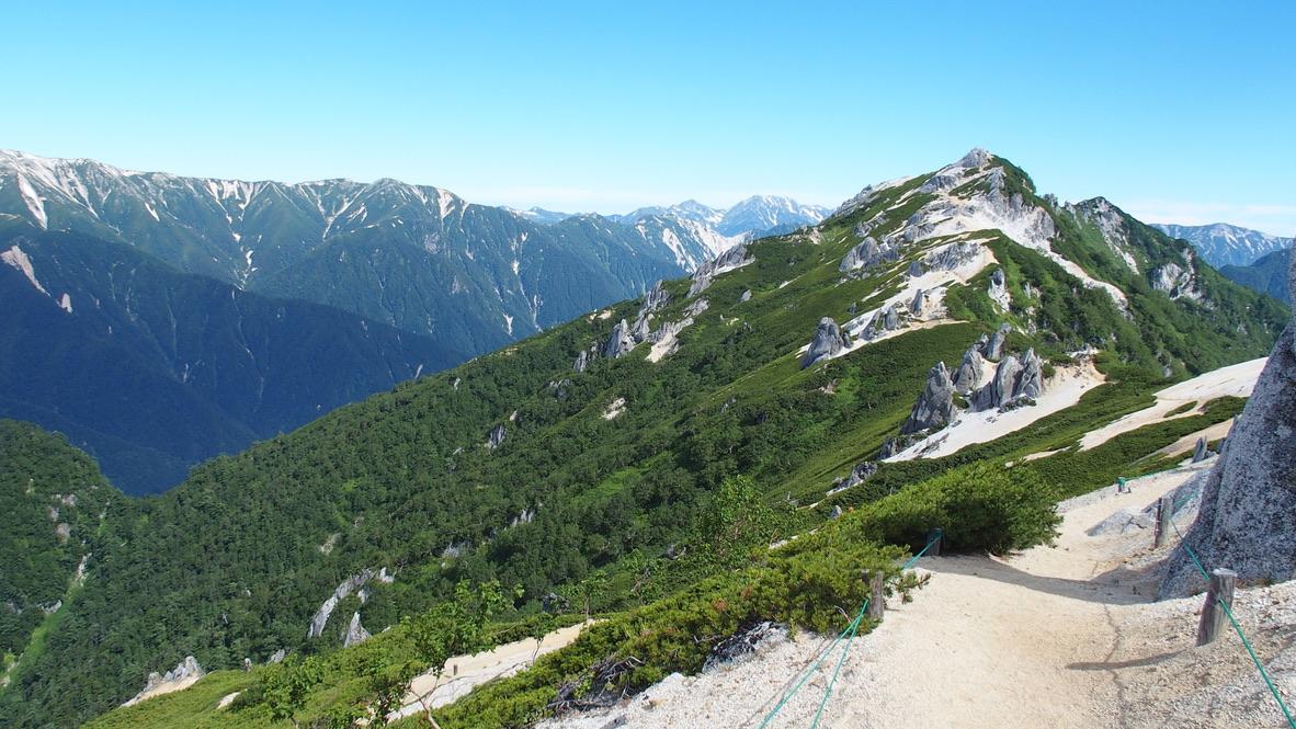 燕岳・燕山荘から燕岳へ