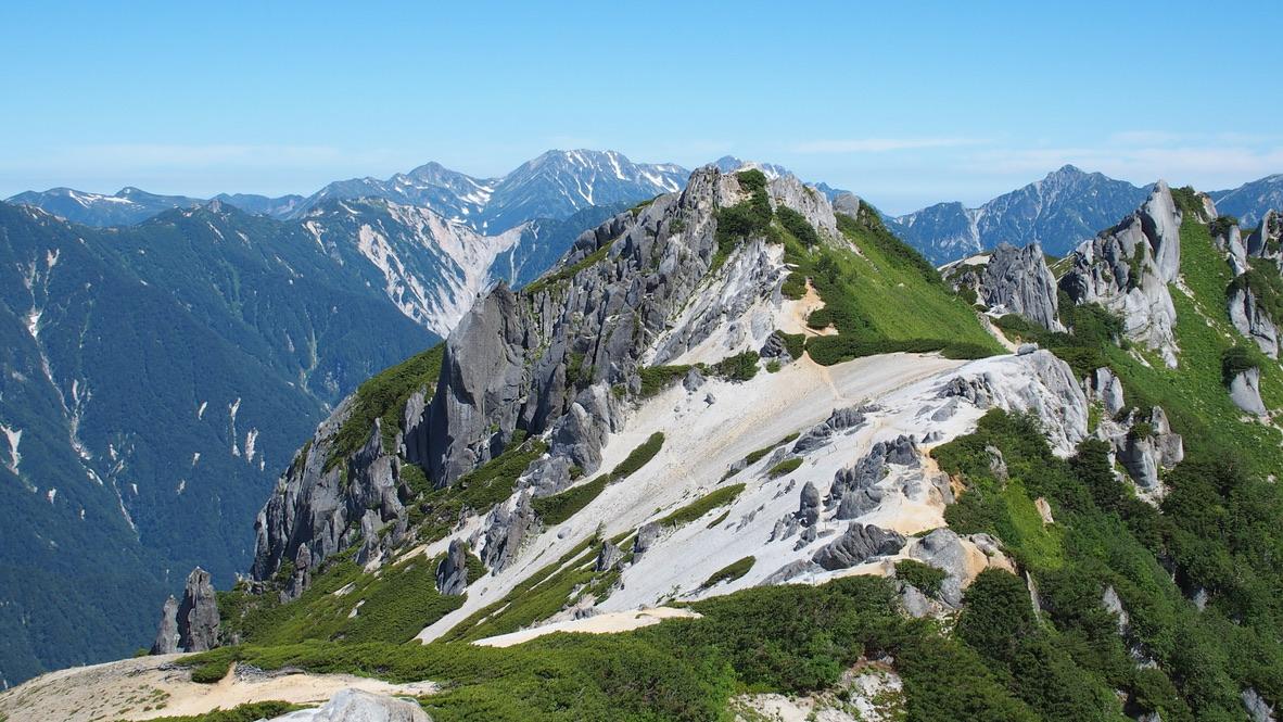 燕岳・燕岳からの立山連峰、剱岳