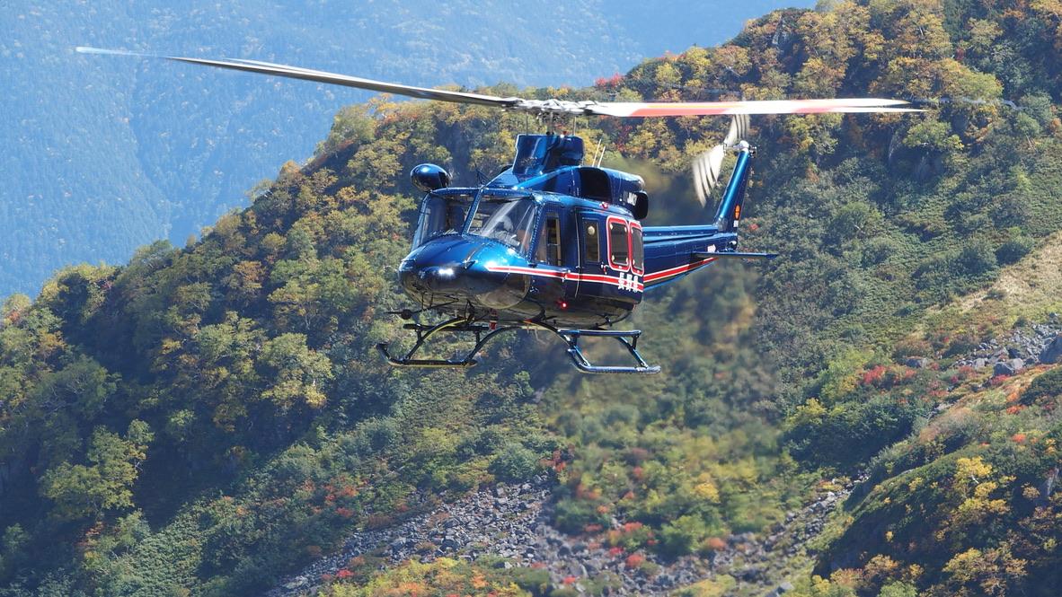 槍ヶ岳・涸沢・長野県のヘリコプター