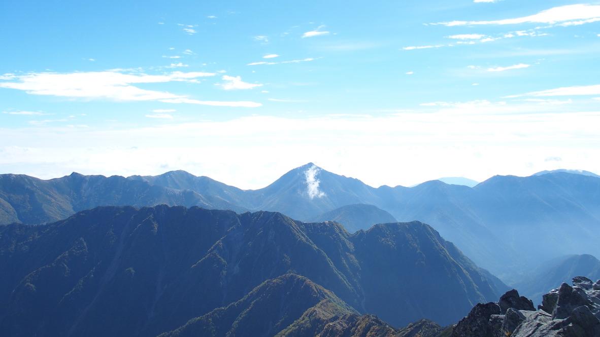 槍ヶ岳・涸沢・槍ヶ岳山頂からの南の山々