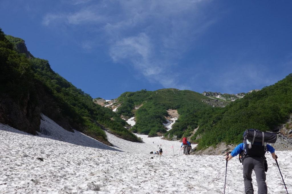 針ノ木岳・蓮華岳・針ノ木雪渓はなかなか急登