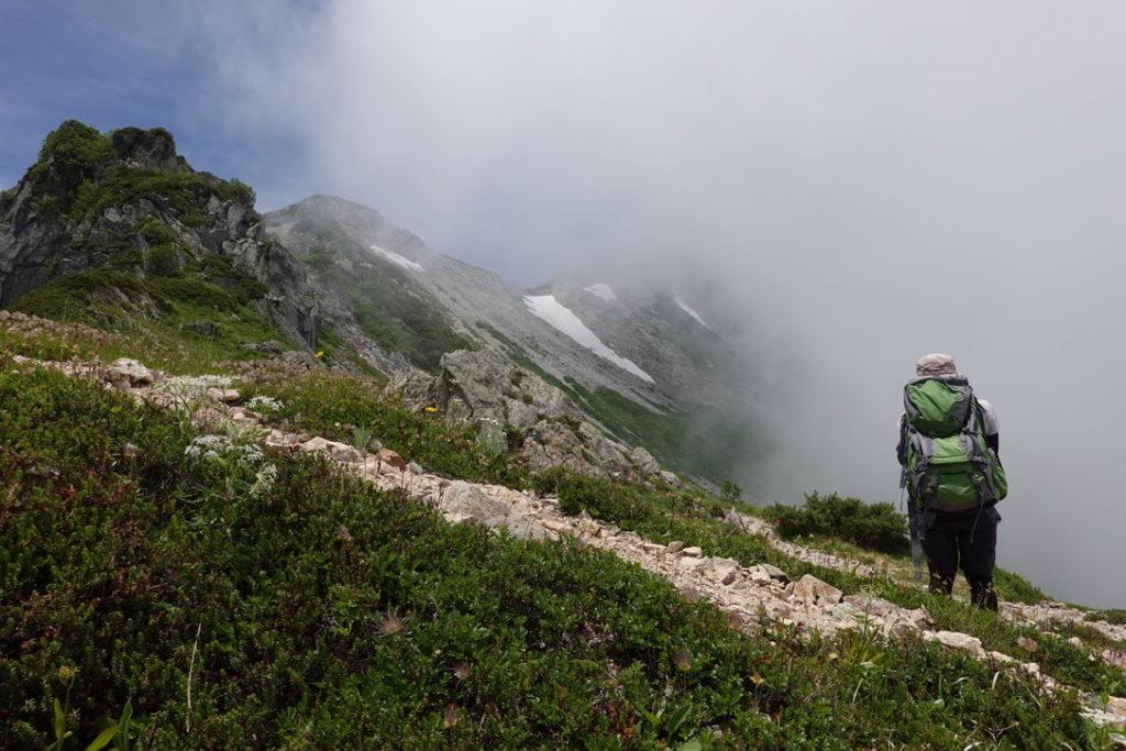 針ノ木岳・蓮華岳・針ノ木小屋から針ノ木岳は、結構がんばる感じです