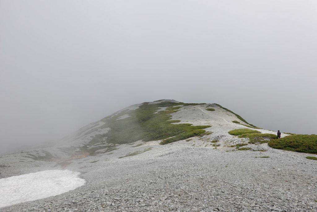 針ノ木岳・蓮華岳・蓮華岳は稜線歩きが半分くらい