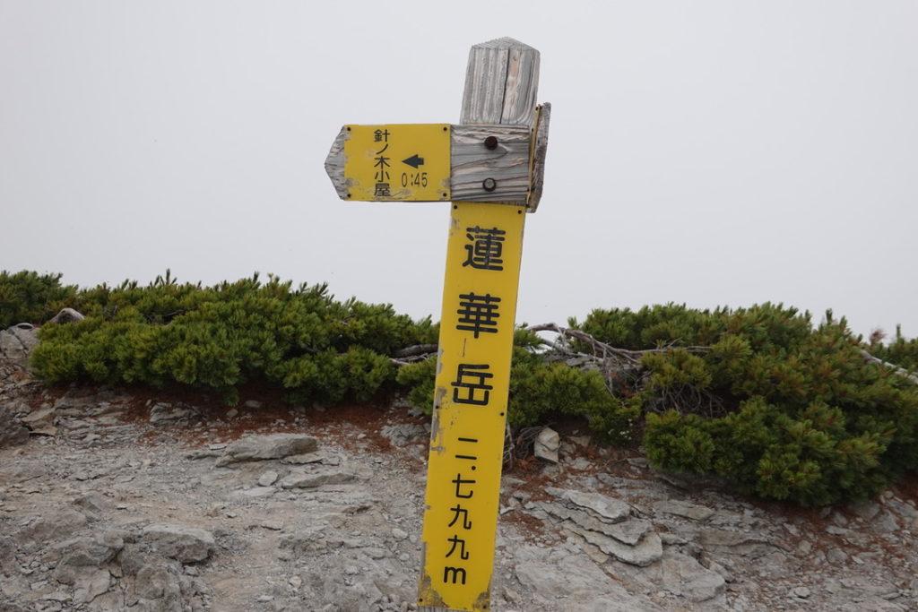針ノ木岳・蓮華岳・蓮華岳山頂