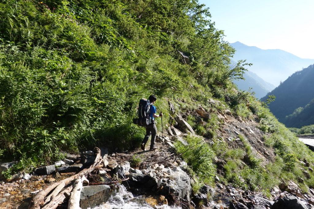 針ノ木岳・蓮華岳・大沢小屋まではちょこちょこ登りがありました