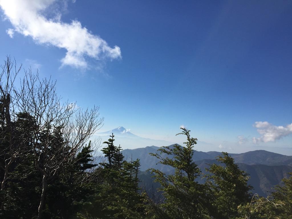 甲武信ヶ岳・三宝山・甲武信ヶ岳から富士山