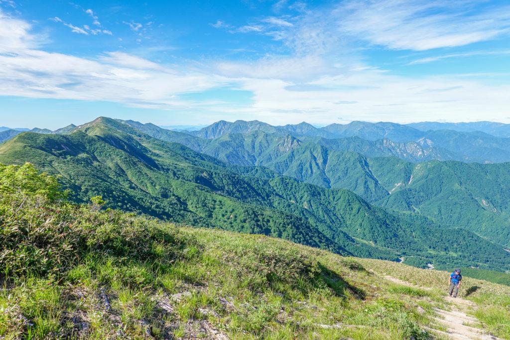 巻機山・巻機山からの谷川岳
