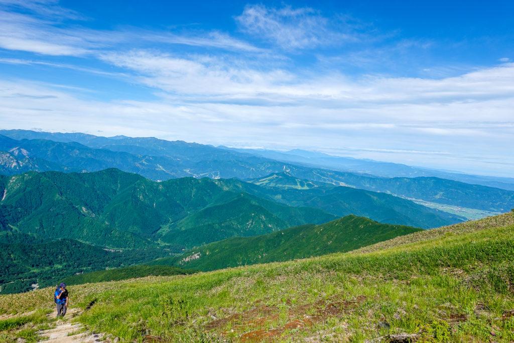 巻機山・巻機山からの苗場山、妙高山と火打山