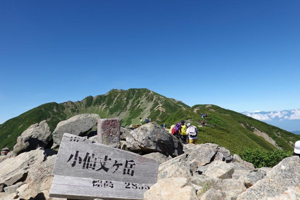 仙丈ヶ岳・小仙丈ヶ岳からの小仙丈沢カール