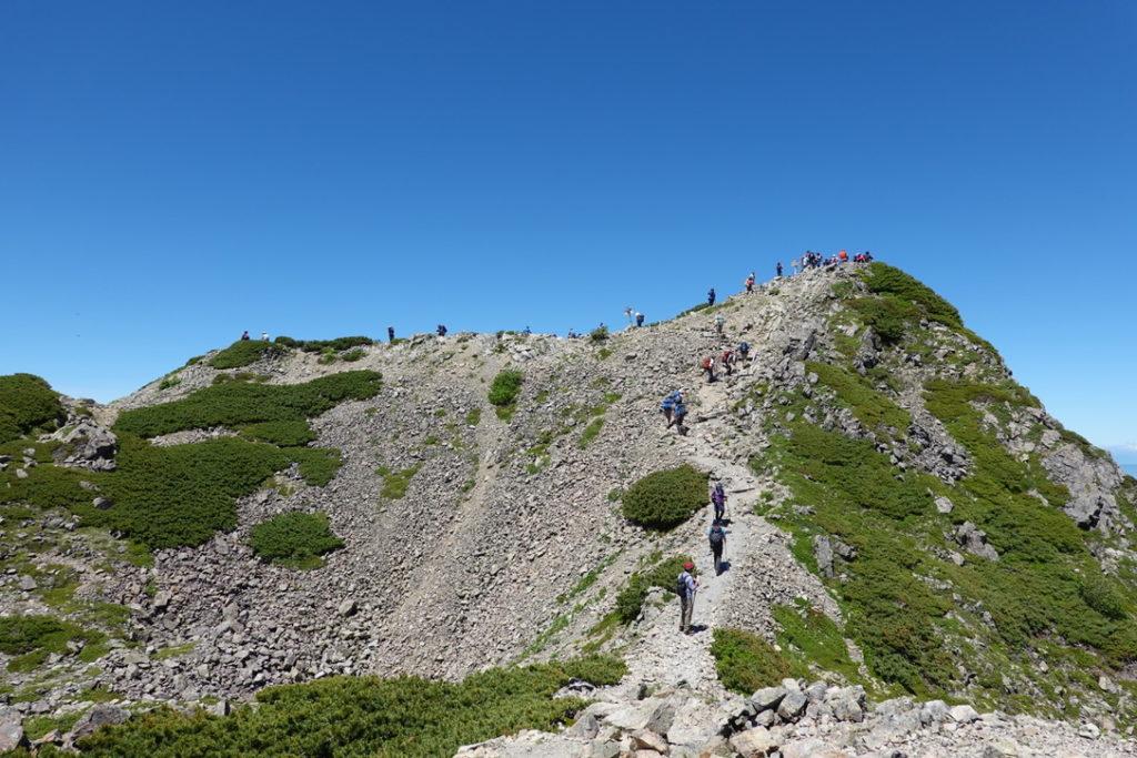 仙丈ヶ岳・仙丈ヶ岳の最後の登り