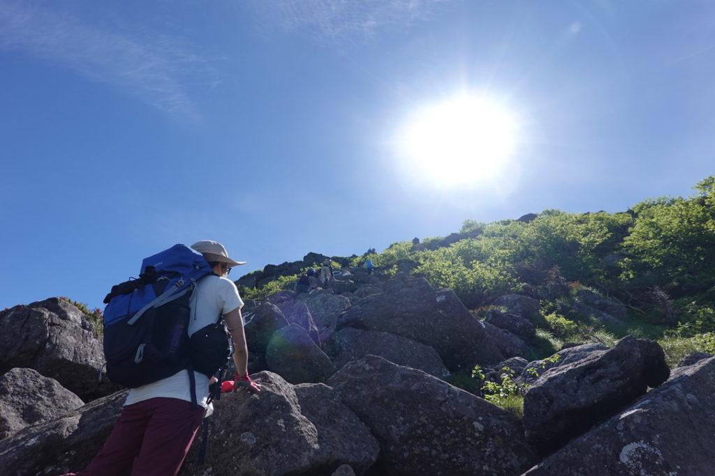 東天狗岳・西天狗岳・第二展望台からの最後の岩稜登り