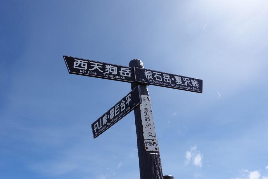 東天狗岳・西天狗岳・東天狗岳山頂