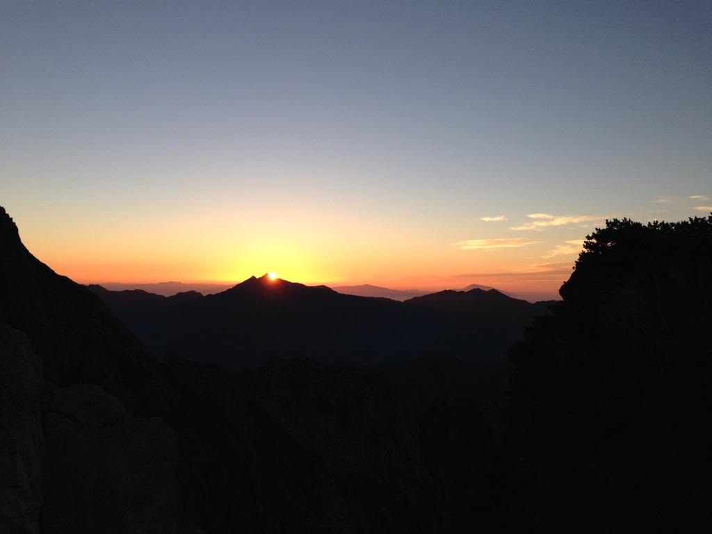 剱岳・剱岳からの朝日