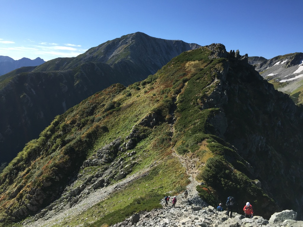 剱岳・前劔から剱澤キャンプ場へ