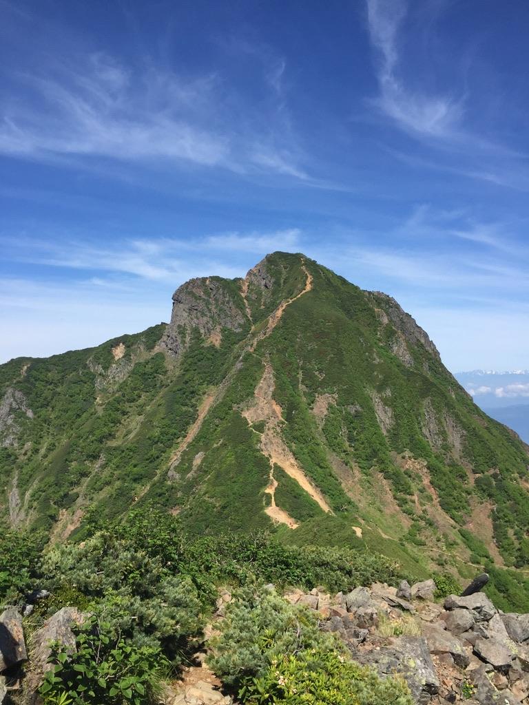南八ヶ岳・中岳からの阿弥陀岳