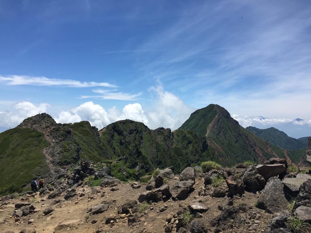 南八ヶ岳・横岳からの赤岳