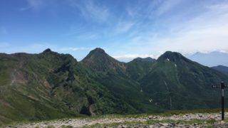 南八ヶ岳・硫黄岳からの横岳、赤岳、中岳、阿弥陀岳