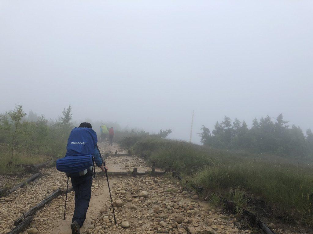 雲ノ平・五光岩ベンチを目指す