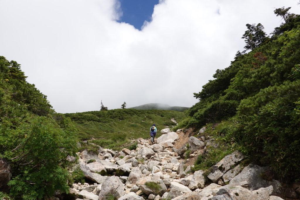 雲ノ平・薬師峠キャンプ場から薬師岳へと至る道2