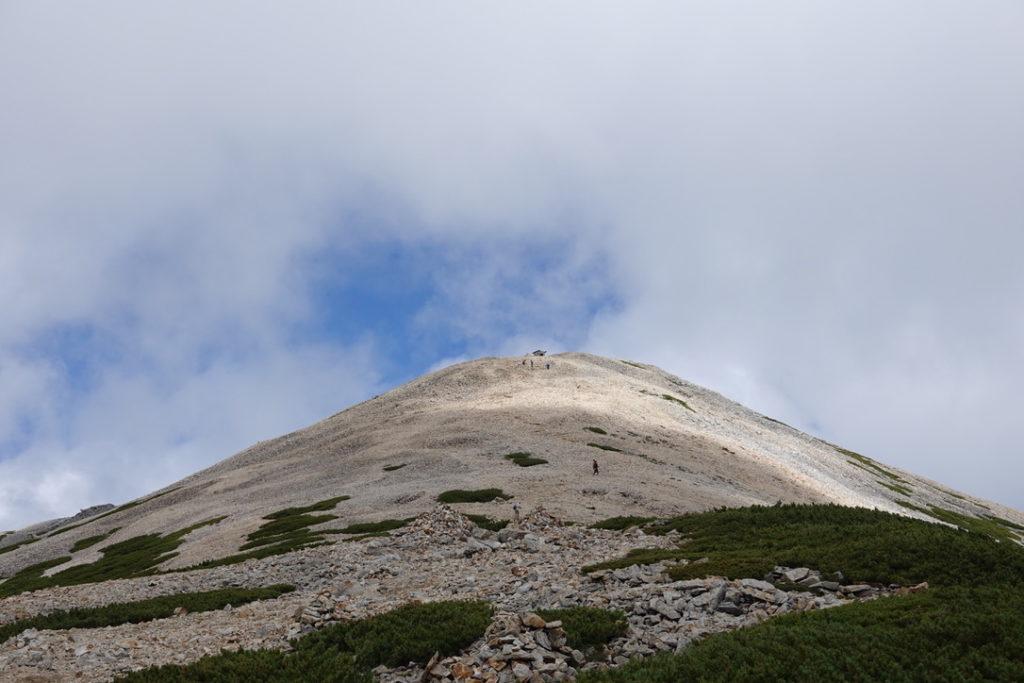 雲ノ平・薬師岳山頂はあそこ?