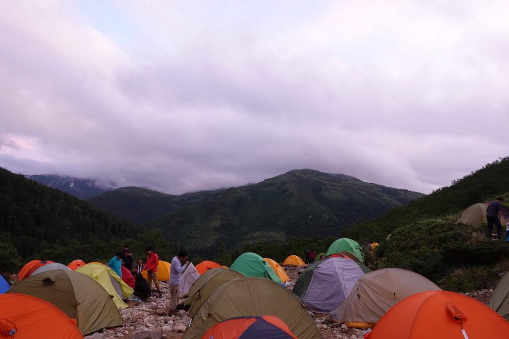 雲ノ平・薬師峠キャンプ場・日の入り前