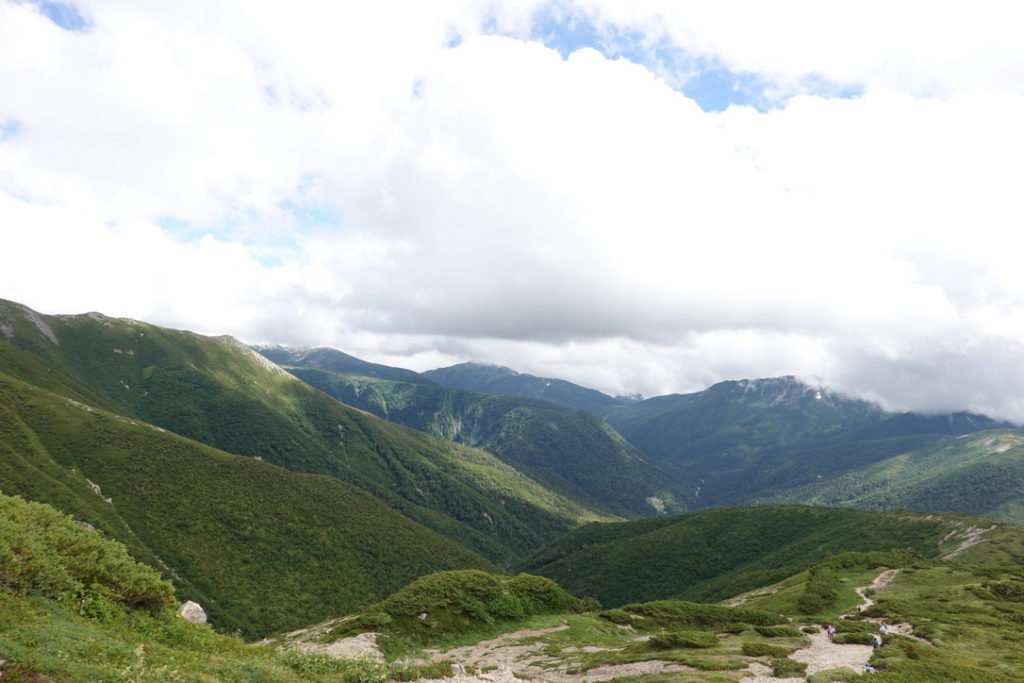 雲ノ平・薬師岳からの雲ノ平、黒部五郎岳