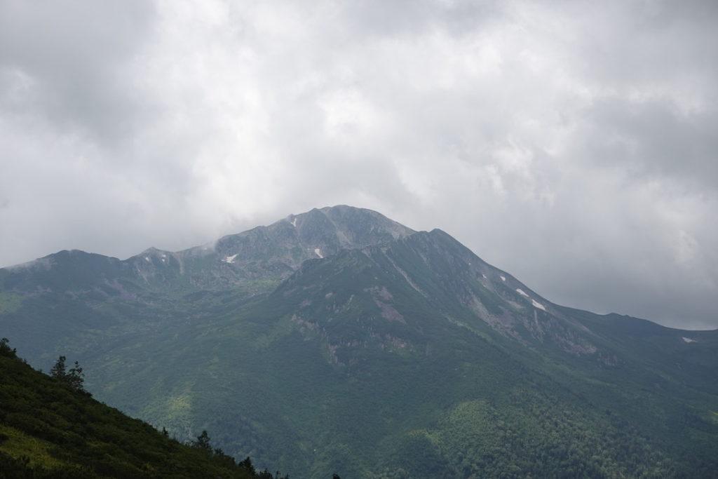 雲ノ平・雲ノ平キャンプ場からの黒部五郎岳