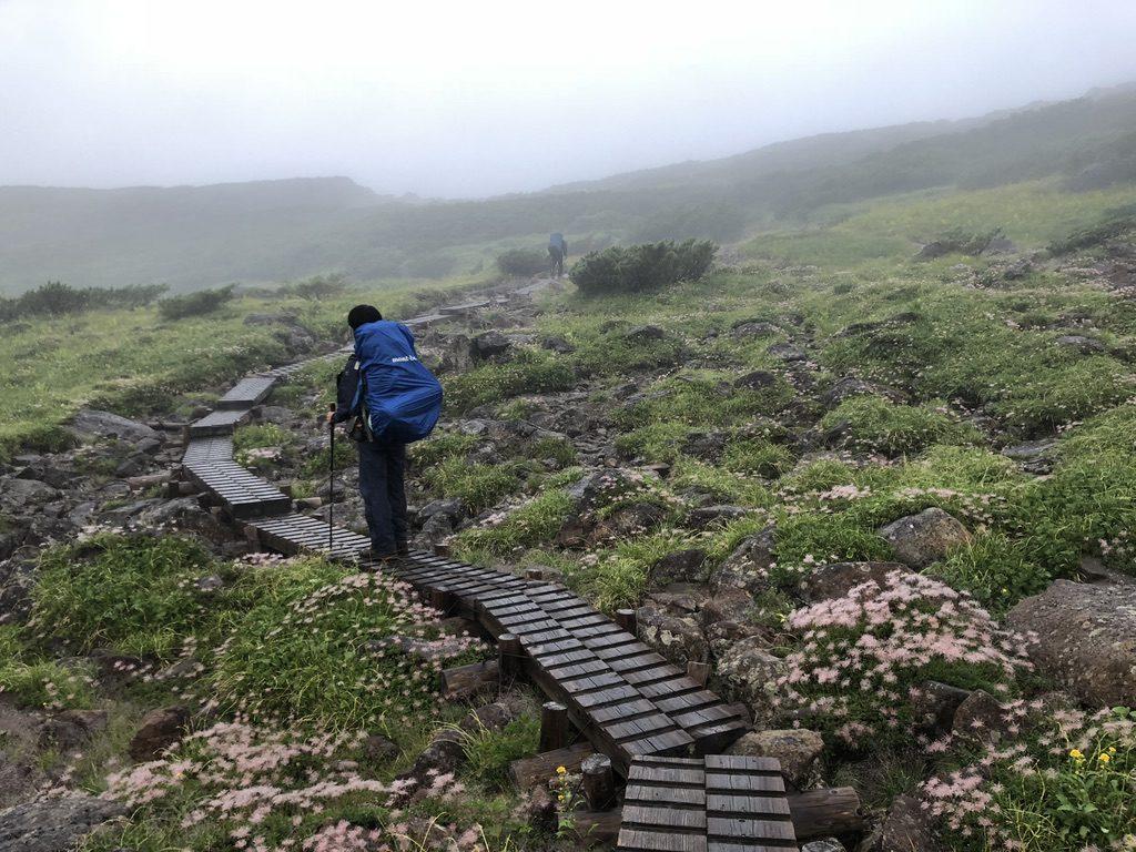 雲ノ平・雲ノ平キャンプ場を鷲羽岳方面へと出発!