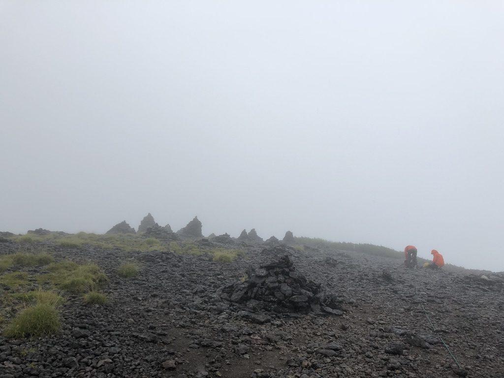 雲ノ平・祖父岳山頂・ケルンがたくさん