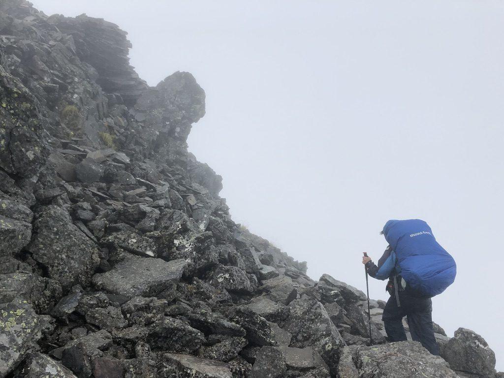 雲ノ平・ワリモ岳登頂中