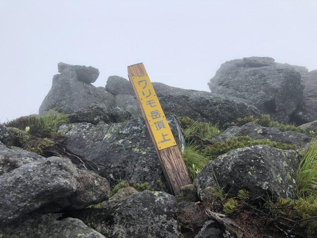 雲ノ平・ワリモ岳山頂