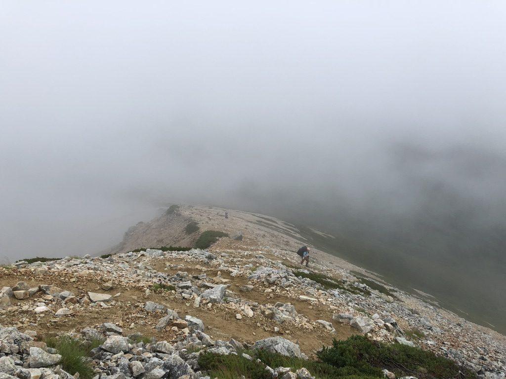 雲ノ平・鷲羽岳山頂から三俣山荘へ