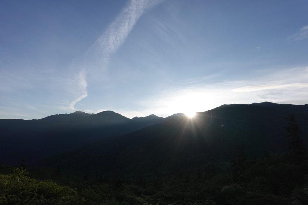 雲ノ平・ひさかたぶりの太陽です