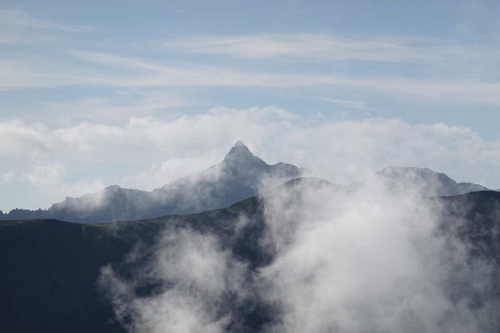 雲ノ平・黒部五郎岳から見えた槍ヶ岳
