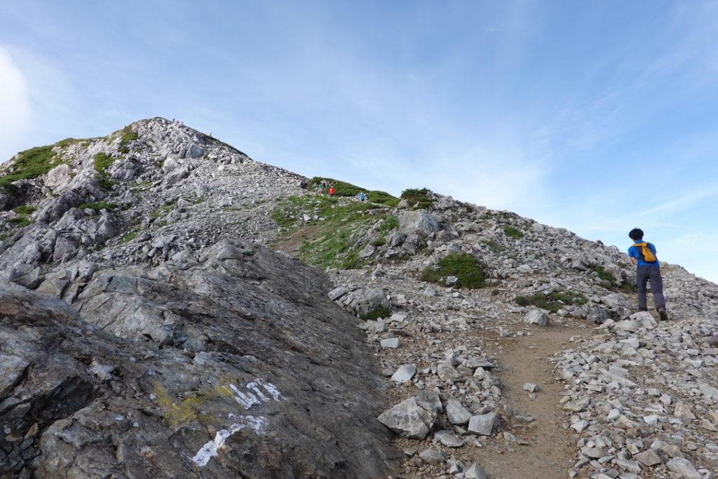 雲ノ平・黒部五郎の肩から山頂アタック開始です