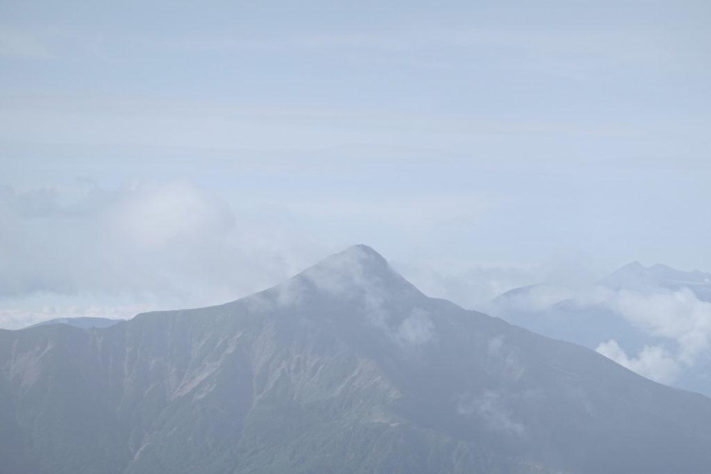 雲ノ平・黒部五郎岳から見た笠ヶ岳