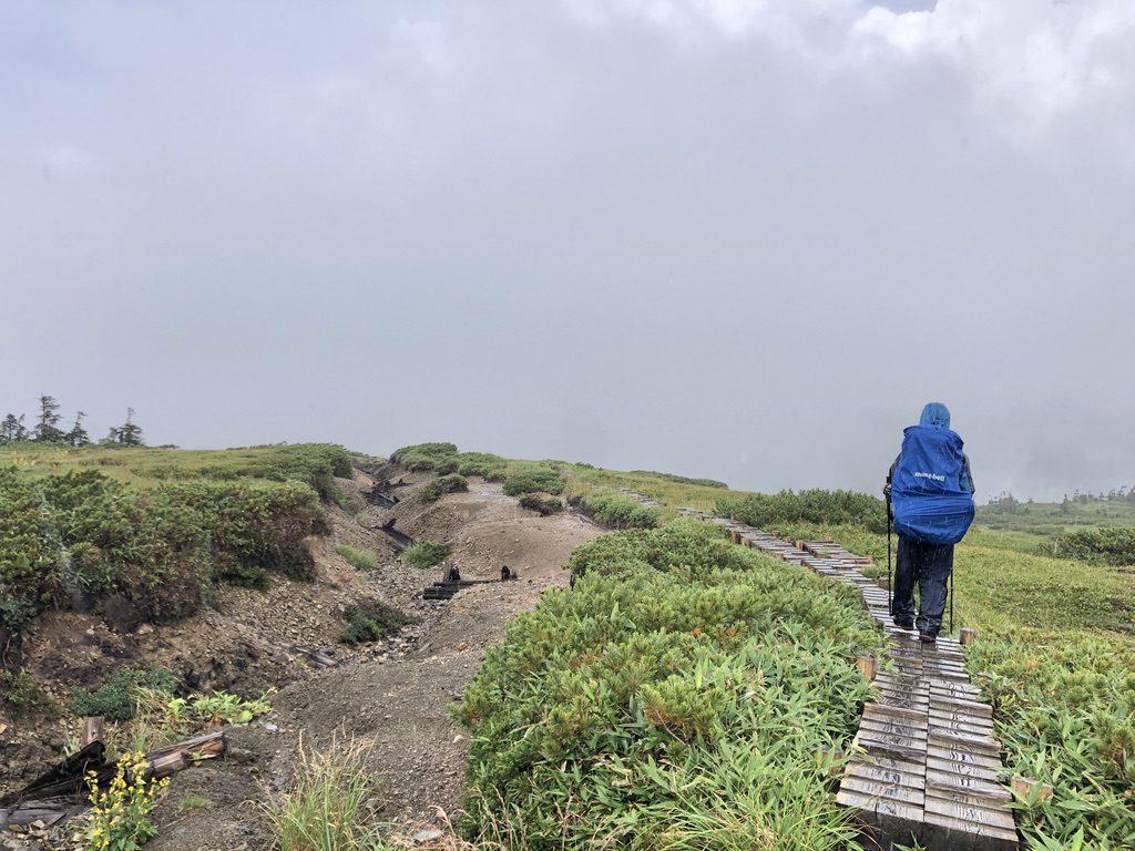 雲ノ平・北ノ俣岳から太郎山へ・やっぱり雨に降られました