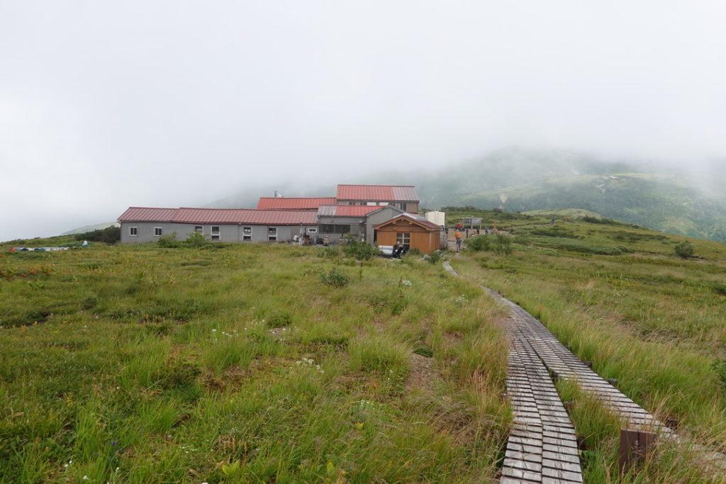 雲ノ平・黒部五郎岳と雲ノ平の合流地点
