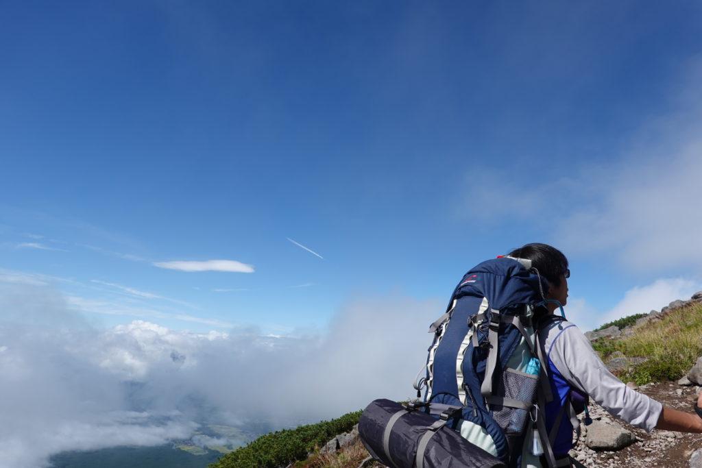 編笠山・権現岳・編笠山山頂の空