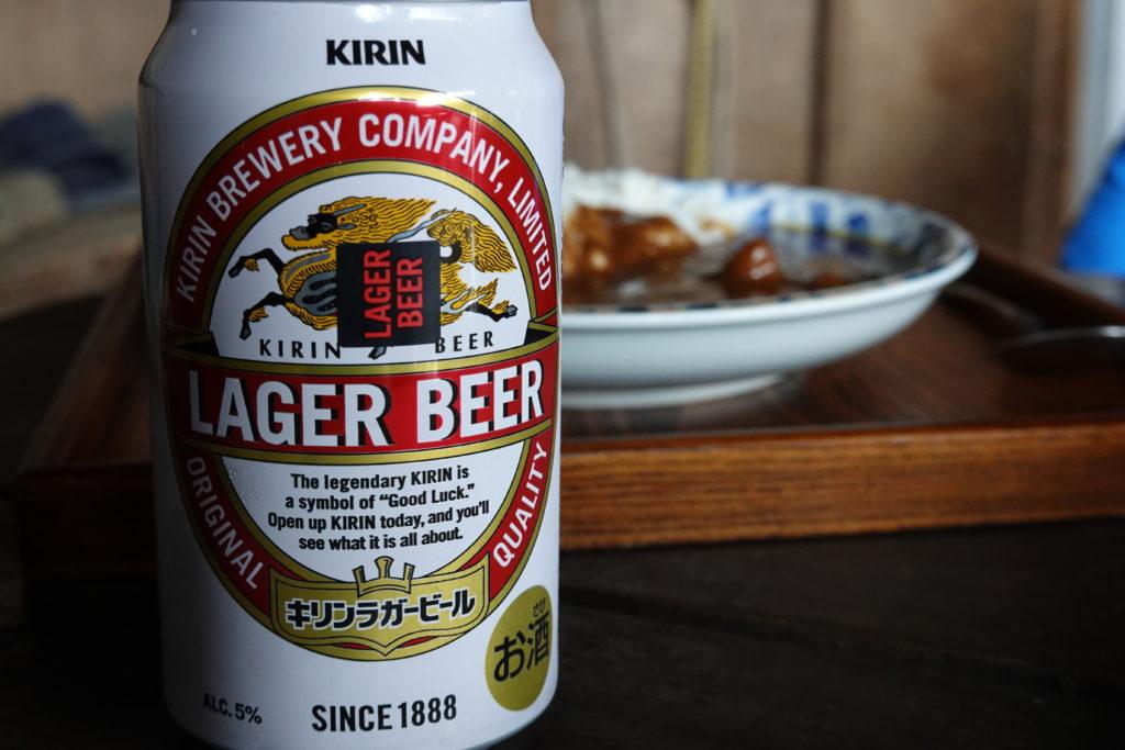 編笠山・権現岳・青年小屋のビールとカレー