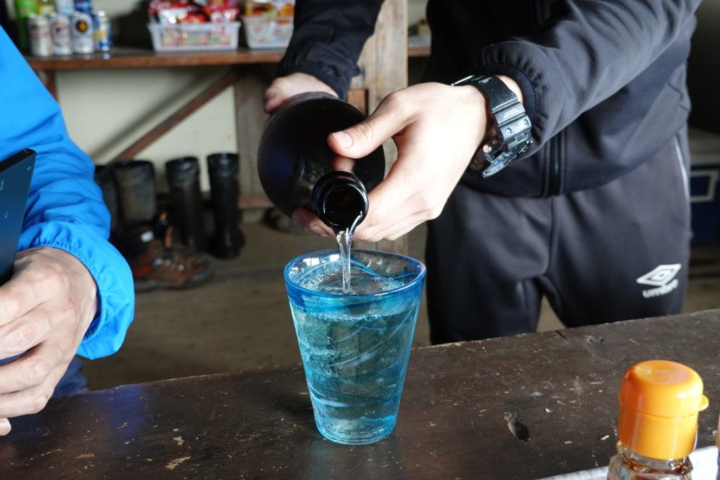 編笠山・権現岳・青年小屋で日本酒