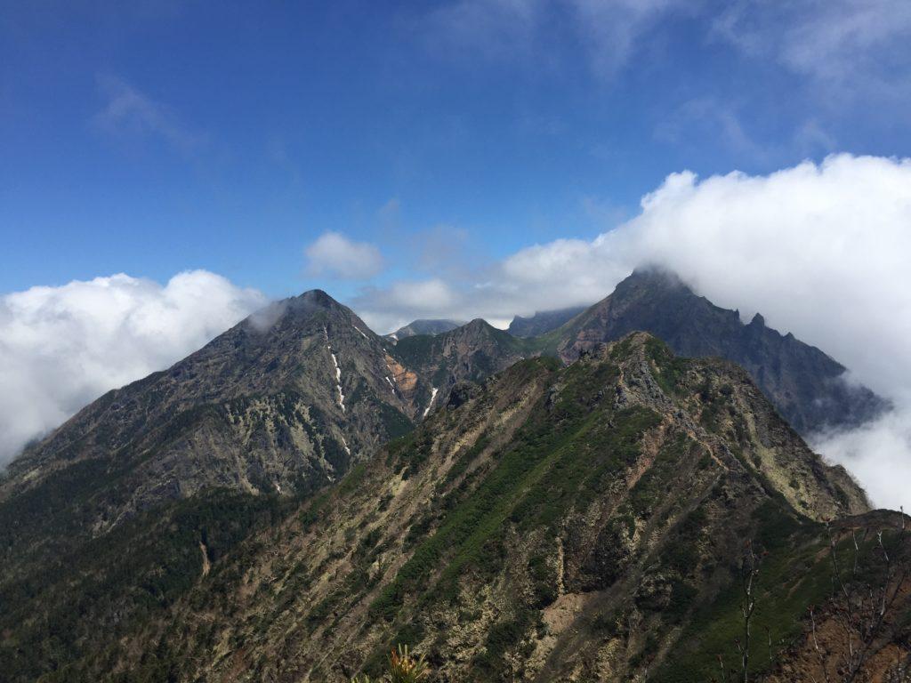 編笠山・権現岳・過去pic・権現岳から赤岳方面を望む・絶景