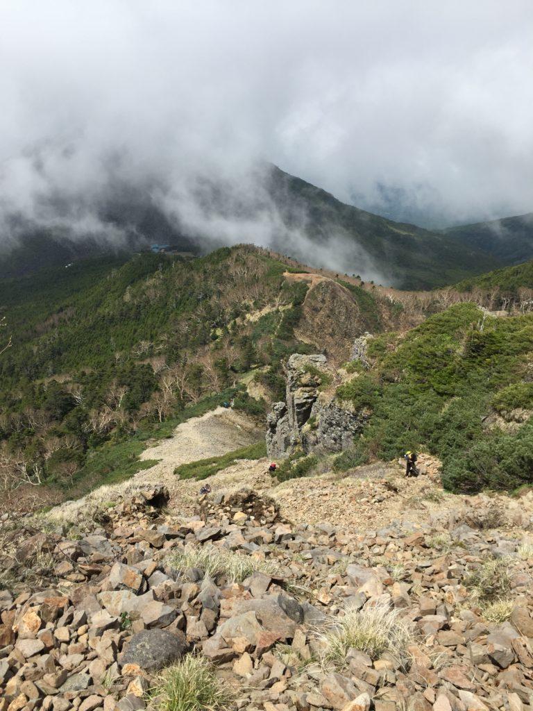 編笠山・権現岳・過去pic・権現岳のくさり場からの景色はこちら
