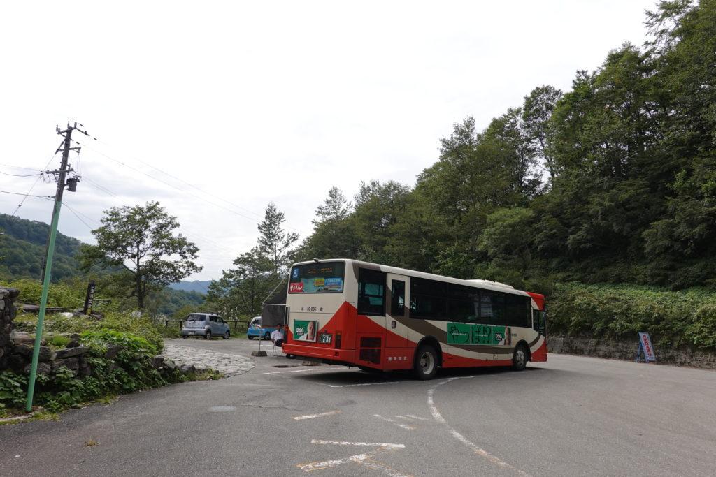 白山・別当出合から市之瀬行きのシャトルバス