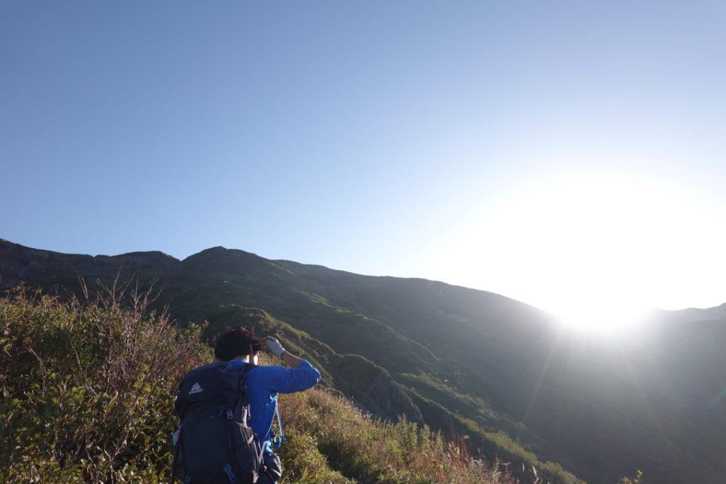 白山・観光新道・晴れているだけで感謝!ほんとにうれしい!